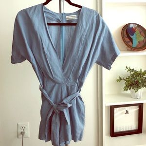 Urban outfitters light blue romper